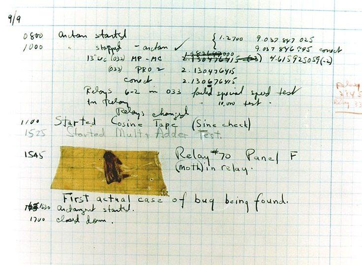 De eerste gedocumenteerde bug (1947)