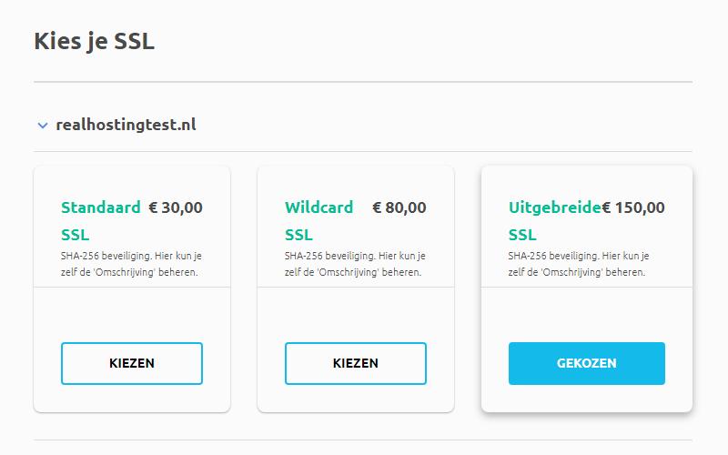 EV SSL bestellen
