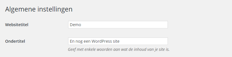 En nog een WordPress site