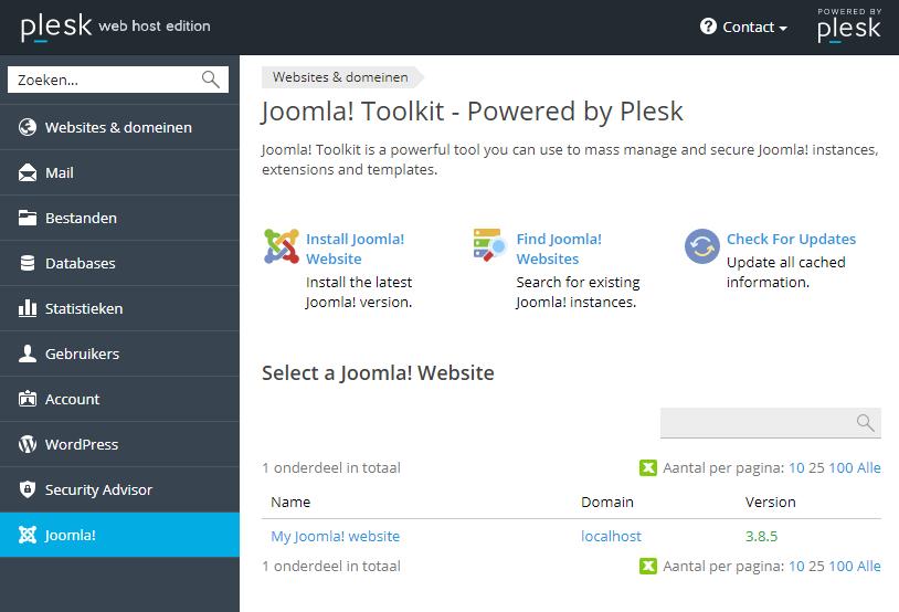 Find Joomla Websites
