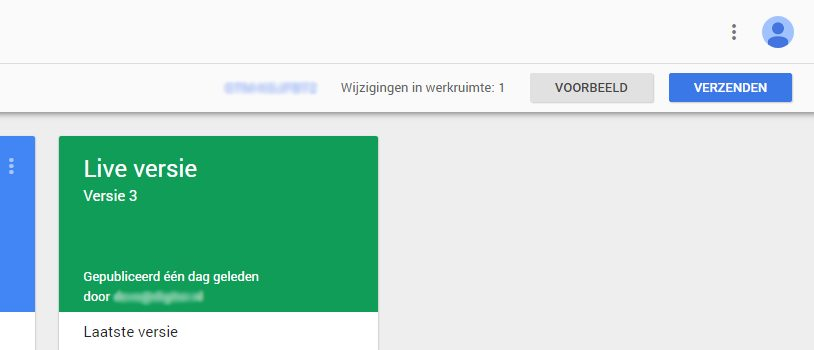 Google Tag Manager verzenden