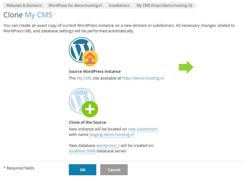 Het klonen van een WordPress installatie