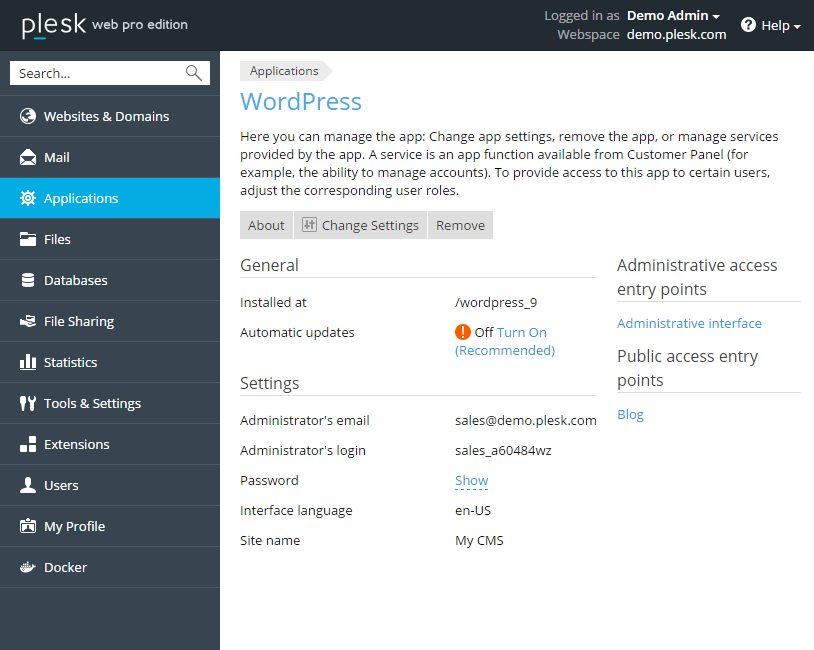 Installeer WordPress met één muisklik deel 4