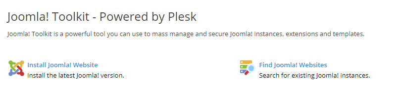 Joomla installeren via de Joomla Toolkit