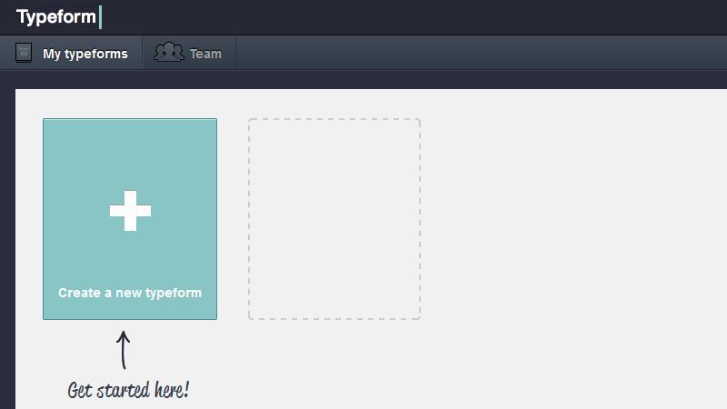 Maak een formulier aan via Typeform