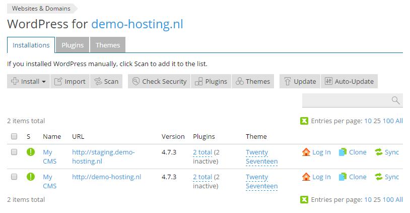 Meerdere WordPress installaties in een pakket