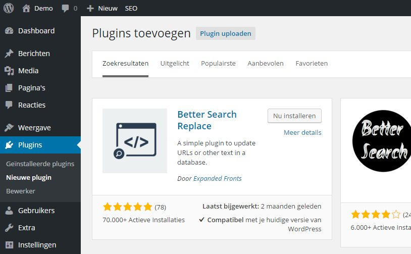 Plugin Better Search Replace