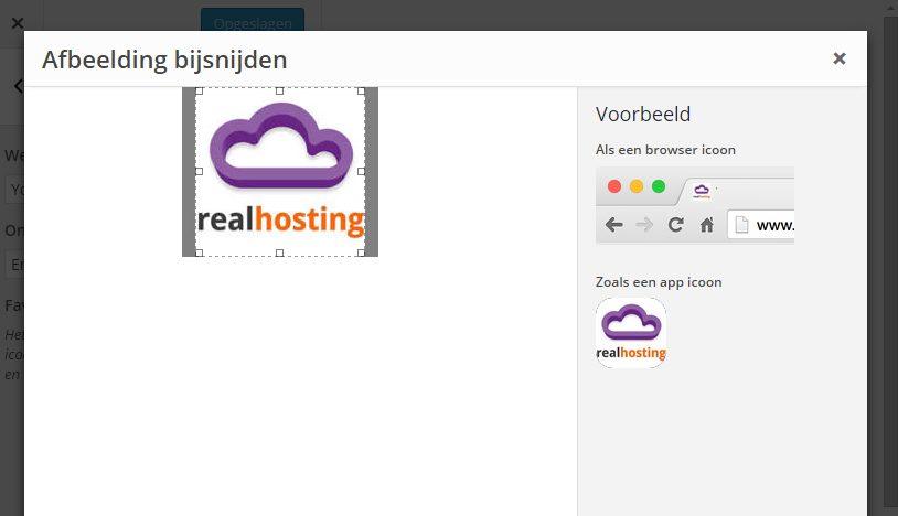 Toevoeging site iconen