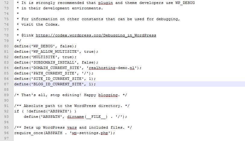 Wijziging de wp-config.php