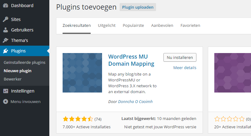 WordPress MU Domain Mapping