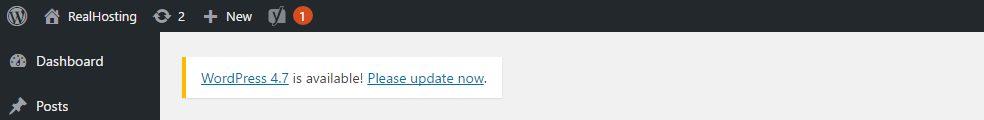 Updaten naar WordPress 4.7