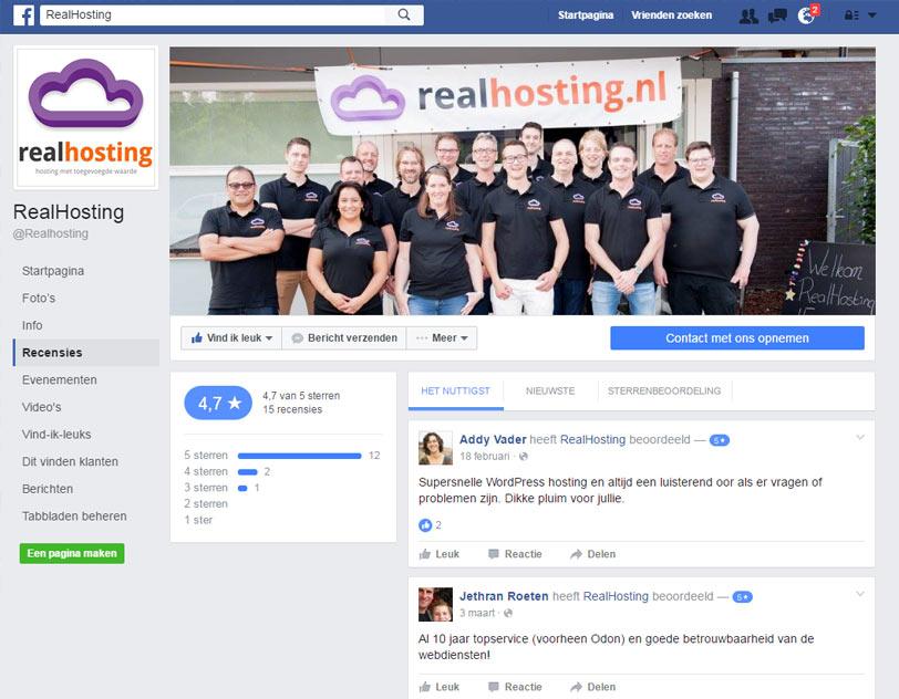 Beoordeling op facebook
