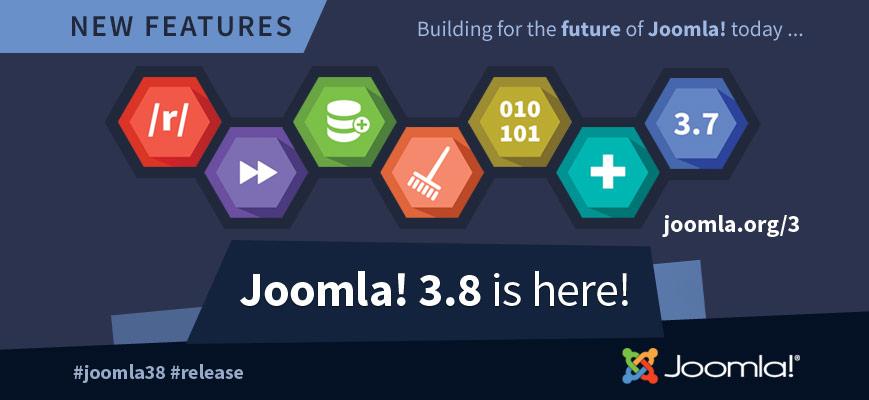 Joomla! 3.8 uitgebracht