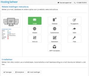 Het hostingbeheer in versie 2.0