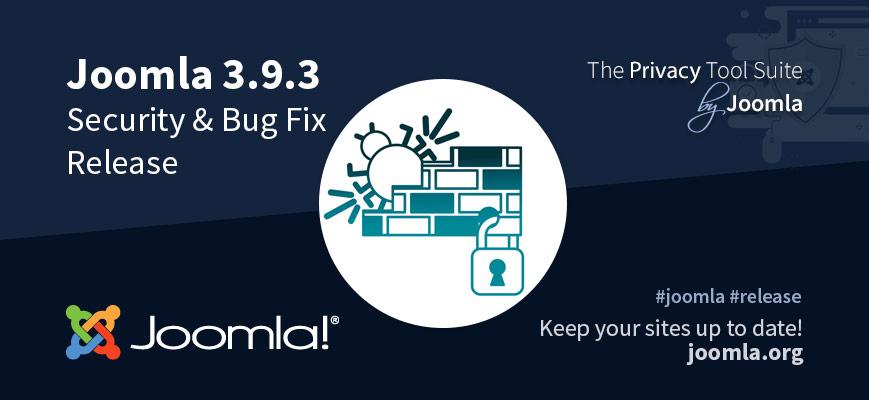 Joomla 3.9.3 uitgebracht