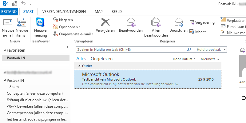 E-mailbericht in Microsoft Outlook 2013