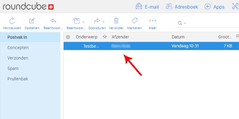 E-mailbericht openen in webmail