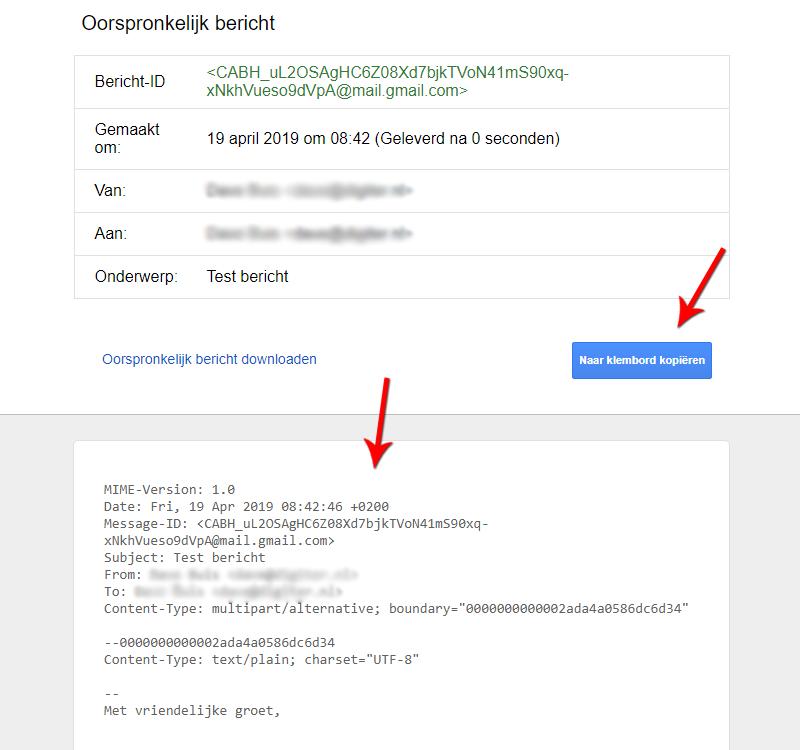 Oorspronkelijk bericht Gmail