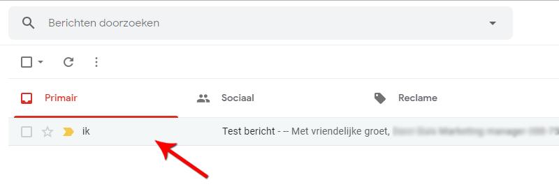 Open het bericht in Gmail