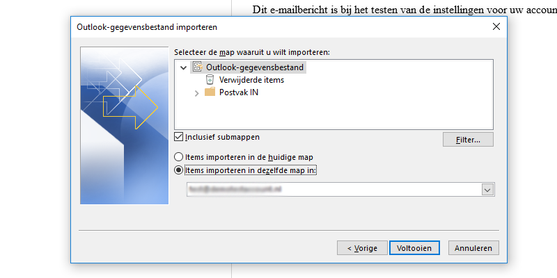 Outlook-gegevensbestand importeren map Microsoft Outlook 2013