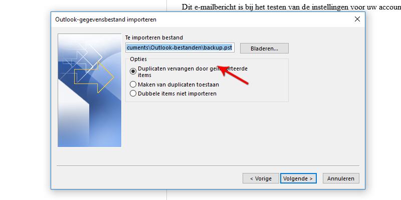 Outlook-gegevensbestand importeren Microsoft Outlook 2013