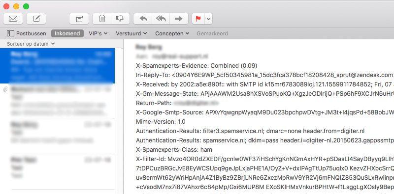E-mailheader Mac OS