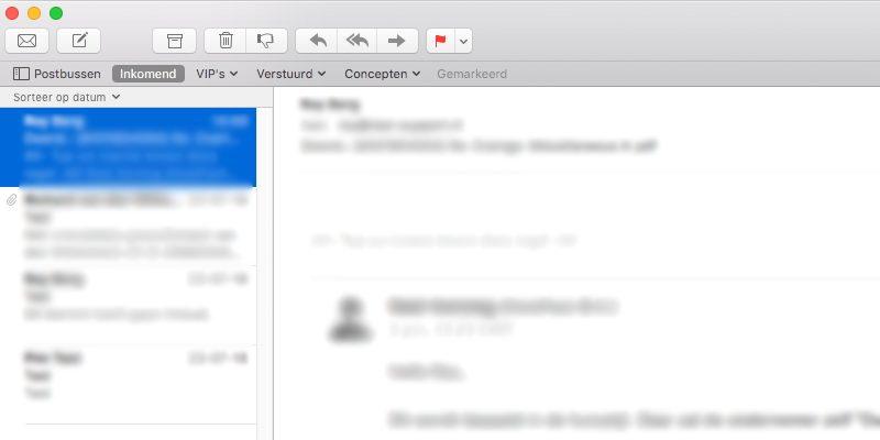 Open het bericht waarvan je de e-mailheader wilt bekijken