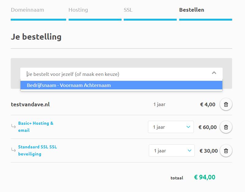 Hoe bestel ik een hostingpakket voor een klant